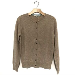 NWOT Boden Cashmere Cardigan in Tan